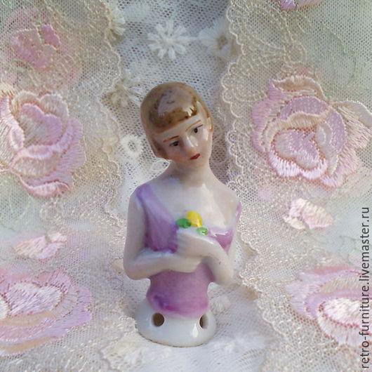 Винтажные куклы и игрушки. Ярмарка Мастеров - ручная работа. Купить Антикварная фарфоровая кукла - половинка в стиле Гэтсби, half doll. Handmade.