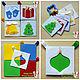 Развивающие игрушки ручной работы. Ярмарка Мастеров - ручная работа. Купить Новогодние развивающие цветовые карточки из фетра, книжка - малышка. Handmade.