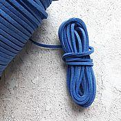 Шнуры ручной работы. Ярмарка Мастеров - ручная работа Шнур замша синий. Handmade.