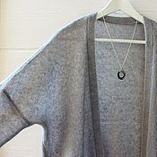 Одежда ручной работы. Ярмарка Мастеров - ручная работа длинный кардиган (вязаный) Мохер с шелком. Handmade.