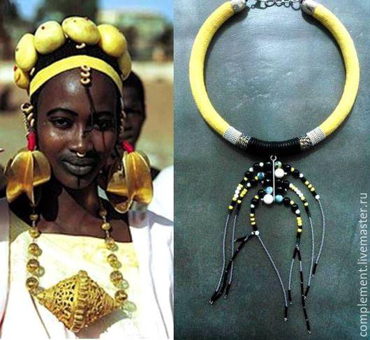 """Колье, бусы ручной работы. Ярмарка Мастеров - ручная работа. Купить """"Вещунья"""" украшение на шею. Handmade. Комбинированный, африканские мотивы"""