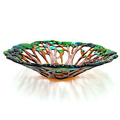 Candy Dishes handmade. Livemaster - original item The candy bowl with Oak glass handcrafted. Handmade.