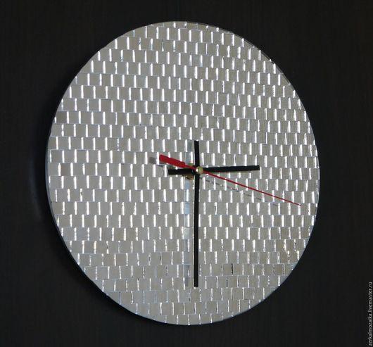 Часы для дома ручной работы. Ярмарка Мастеров - ручная работа. Купить Часы настенные Диско. Handmade. Серебряный, зеркальный