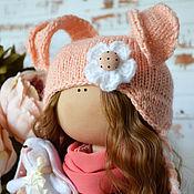 Куклы и игрушки ручной работы. Ярмарка Мастеров - ручная работа Персиковая Зайка. Handmade.