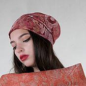 Аксессуары handmade. Livemaster - original item Felt hat with decor