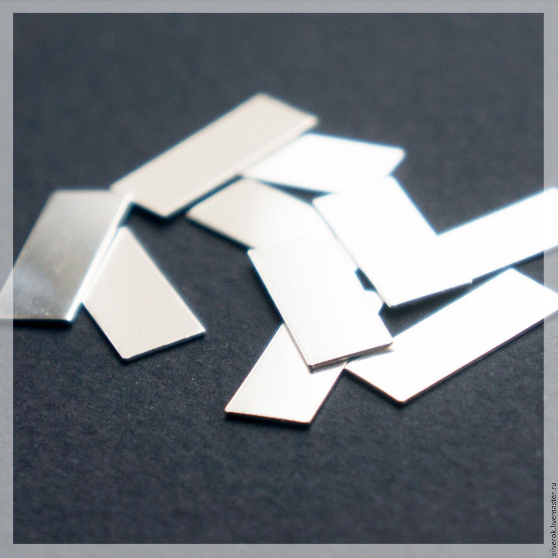 36a2d387dfe7 Для украшений ручной работы. Ярмарка Мастеров - ручная работа. Купить  Пластина серебро 925 проба ...