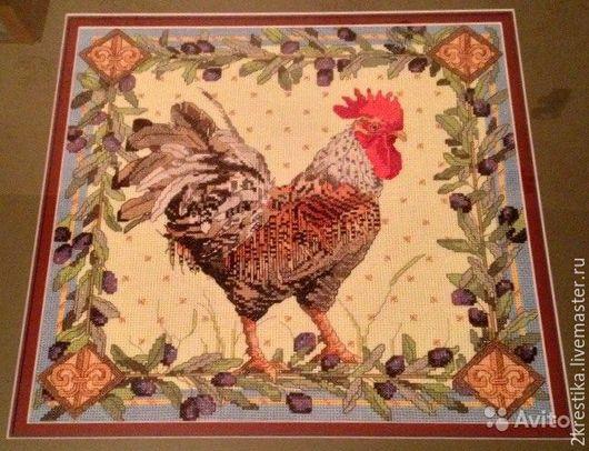 Животные ручной работы. Ярмарка Мастеров - ручная работа. Купить Петушок Bucilla. Handmade. Вышивка, Вышитая картина, счетный крест