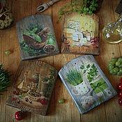 Посуда handmade. Livemaster - original item Cheese Board in assortment.. Decoupage cutting Board. Handmade.