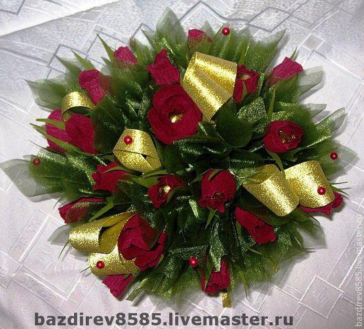 Букеты ручной работы. Ярмарка Мастеров - ручная работа. Купить Бордовые розы (мужской букет). Handmade. Оригинальный подарок