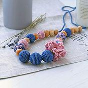 Одежда handmade. Livemaster - original item Slingobus blue with powder. Handmade.