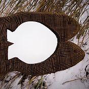 """Для дома и интерьера ручной работы. Ярмарка Мастеров - ручная работа Декор зеркало """"Рыбки"""" 82 см.. Handmade."""