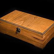 Box handmade. Livemaster - original item Tea box made of solid beech wood. Handmade.