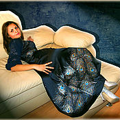 Одежда ручной работы. Ярмарка Мастеров - ручная работа Платье вечернее концертное,  Перья Павлина,  авторская роспись.. Handmade.