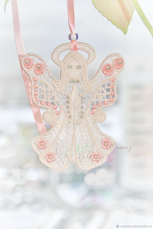 Ангел цветов вышитая кружевная игрушка для мобиля, Игрушки, Москва, Фото №1
