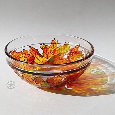 """Посуда ручной работы. Ярмарка Мастеров - ручная работа Салатник """"Кленовые листья"""". Handmade."""