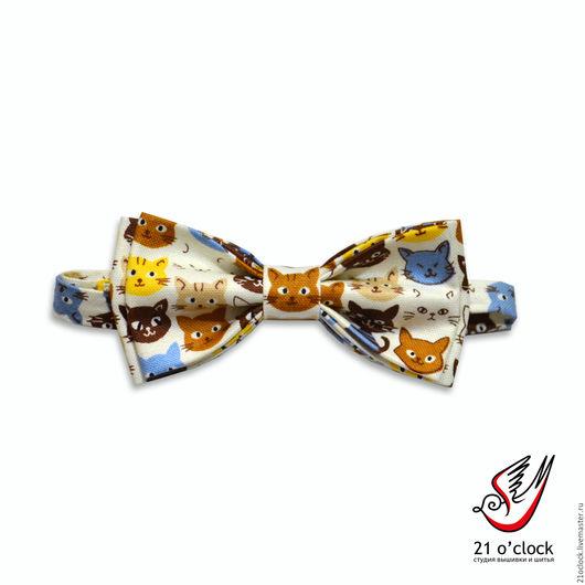 Стильная бабочка с котами! Отличный подарок на новый год 2016, 23 февраля, 8 марта. Для мужчин, женщин, детей.