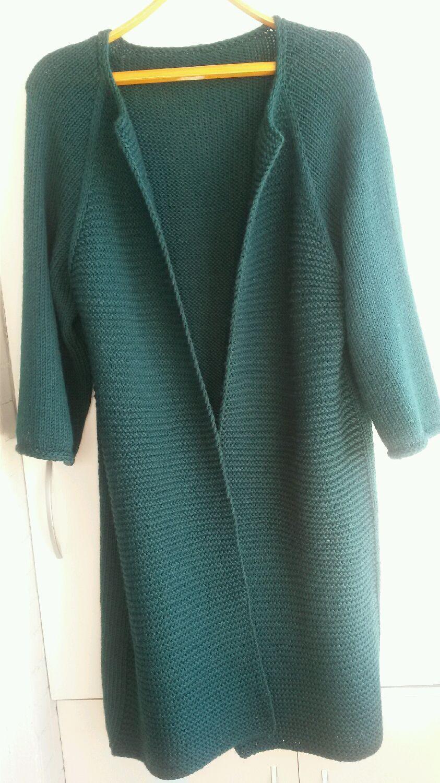 Кардиган свободного кроя - Baggy sweater - Modnoe Vyazanie m 1