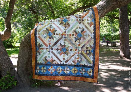 Текстиль, ковры ручной работы. Ярмарка Мастеров - ручная работа. Купить Река Шайенн. Handmade. Одеяло пэчворк, Квилтинг и пэчворк