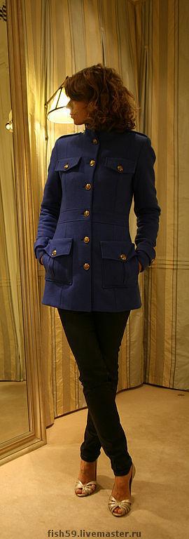 """Верхняя одежда ручной работы. Ярмарка Мастеров - ручная работа. Купить Пальто """"Military"""". Handmade. Пальто, милитари, 100% шерсть"""