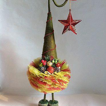 Сувениры и подарки ручной работы. Ярмарка Мастеров - ручная работа Новогодняя ёлочка - топотушка. Handmade.