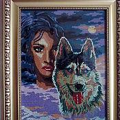 """Картины и панно ручной работы. Ярмарка Мастеров - ручная работа """"Волчица"""". Handmade."""