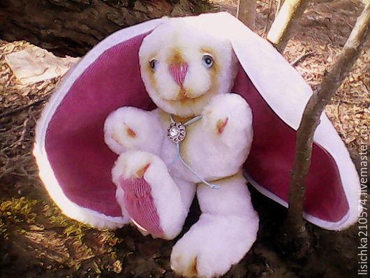 Куклы и игрушки ручной работы. Ярмарка Мастеров - ручная работа. Купить Пасхальный кролик (мягкая игрушка). Handmade. Белый, синтепон