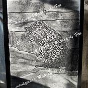 Картины и панно ручной работы. Ярмарка Мастеров - ручная работа Пастель. Леопард.. Handmade.