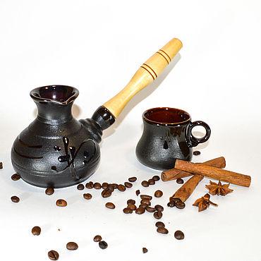 """Посуда ручной работы. Ярмарка Мастеров - ручная работа Турка с чашкой """"Иероглиф"""". Handmade."""