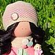 Куклы тыквоголовки ручной работы. Ярмарка Мастеров - ручная работа. Купить Текстильная кукла. Handmade. Коралловый, текстильная кукла