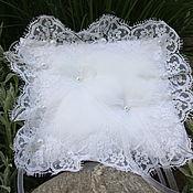 Свадебный салон handmade. Livemaster - original item The snow-white pillow for rings