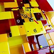Для дома и интерьера ручной работы. Ярмарка Мастеров - ручная работа часы из стекла, фьюзинг   Печворк. Handmade.
