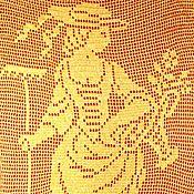 Картины и панно ручной работы. Ярмарка Мастеров - ручная работа Вязаная картина/панно в винтажном стиле Прекрасная садовница. Handmade.