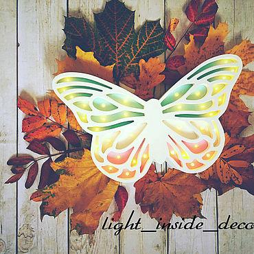 """Для дома и интерьера ручной работы. Ярмарка Мастеров - ручная работа Ночник """"Бабочка"""". Handmade."""