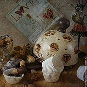 Для дома и интерьера handmade. Livemaster - original item Bread - pancake maker Wanted chocolate. Decoupage. Handmade.