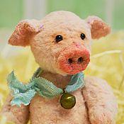Куклы и игрушки ручной работы. Ярмарка Мастеров - ручная работа Кубышик тедди поросенок. Handmade.