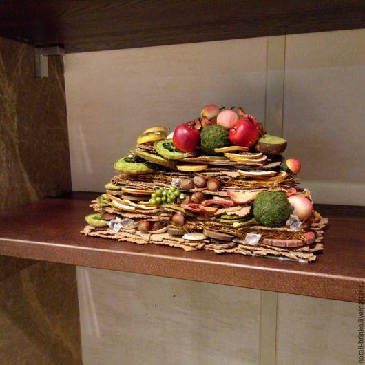 Интерьерные композиции ручной работы. Ярмарка Мастеров - ручная работа. Купить Интерьерная  композиция Осенний пирог. Handmade. Разноцветный