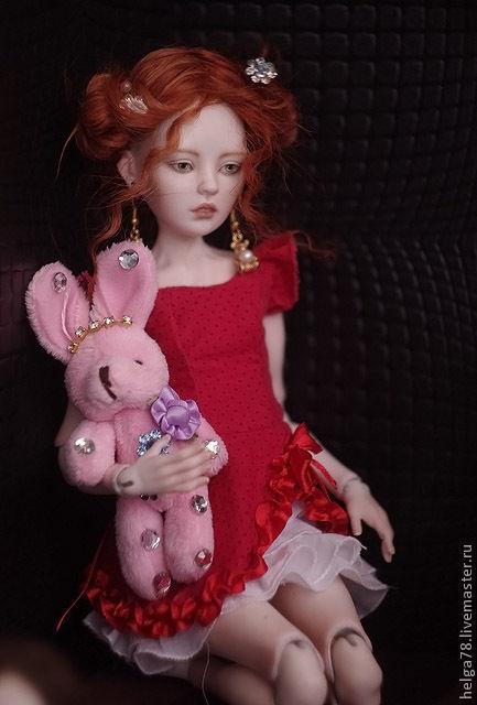 Коллекционные куклы ручной работы. Ярмарка Мастеров - ручная работа. Купить Лолита. Handmade. Бордовый, фарфор
