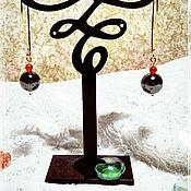 """Украшения ручной работы. Ярмарка Мастеров - ручная работа Серьги """"Хурма в серебре"""". Handmade."""