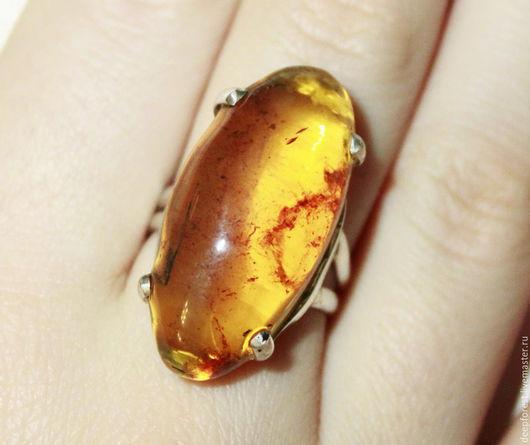 Кольца ручной работы. Ярмарка Мастеров - ручная работа. Купить Кольцо Янтарь натуральный. Handmade. Желтый, янтарь, кольцо янтарь