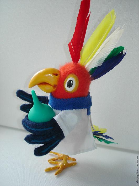 """Игрушки животные, ручной работы. Ярмарка Мастеров - ручная работа. Купить Попугай   из сказки """"Доктор Айболит"""". Валяная игрушка. Handmade."""