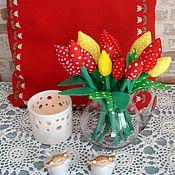 Цветы и флористика ручной работы. Ярмарка Мастеров - ручная работа Тюльпаны из ткани, тюльпаны Тильда. Handmade.