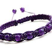 Украшения handmade. Livemaster - original item Shambhala bracelet with amethyst. Handmade.