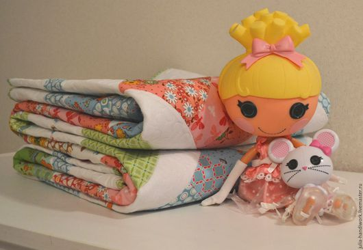 Пледы и одеяла ручной работы. Ярмарка Мастеров - ручная работа. Купить Сказка о принцессе - Лоскутное покрывало. Handmade. Белый