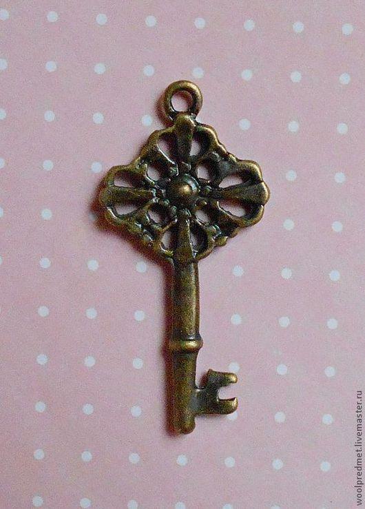 """Куклы и игрушки ручной работы. Ярмарка Мастеров - ручная работа. Купить Ключ """"Ажурный"""". Handmade. Подвеска металлическая, ключ бронзовый"""