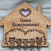 """Ключницы ручной работы. Ярмарка Мастеров - ручная работа Ключница """"милые котики"""". Handmade."""