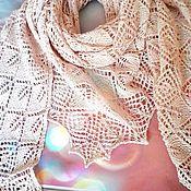 Шали ручной работы. Ярмарка Мастеров - ручная работа Бежевая шаль из хлопка. Handmade.