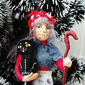 Куклы и игрушки ручной работы. Ярмарка Мастеров - ручная работа Баба Яга 2- ватная игрушка. Handmade.