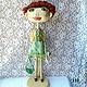Коллекционные куклы ручной работы. Заказать НИКОЛЬ Шарнирная текстильная кукла. AEA. Ярмарка Мастеров. Авторская кукла, кукла в подарок