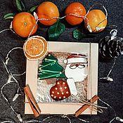 Новогодние сувениры ручной работы. Ярмарка Мастеров - ручная работа Подарочный набор пряников на Новый год 2020_#2. Handmade.