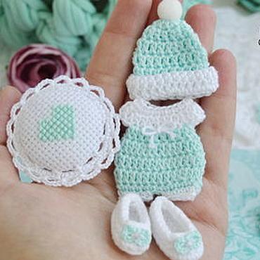 Materials for creativity handmade. Livemaster - original item Set Baby mint in stock. Handmade.